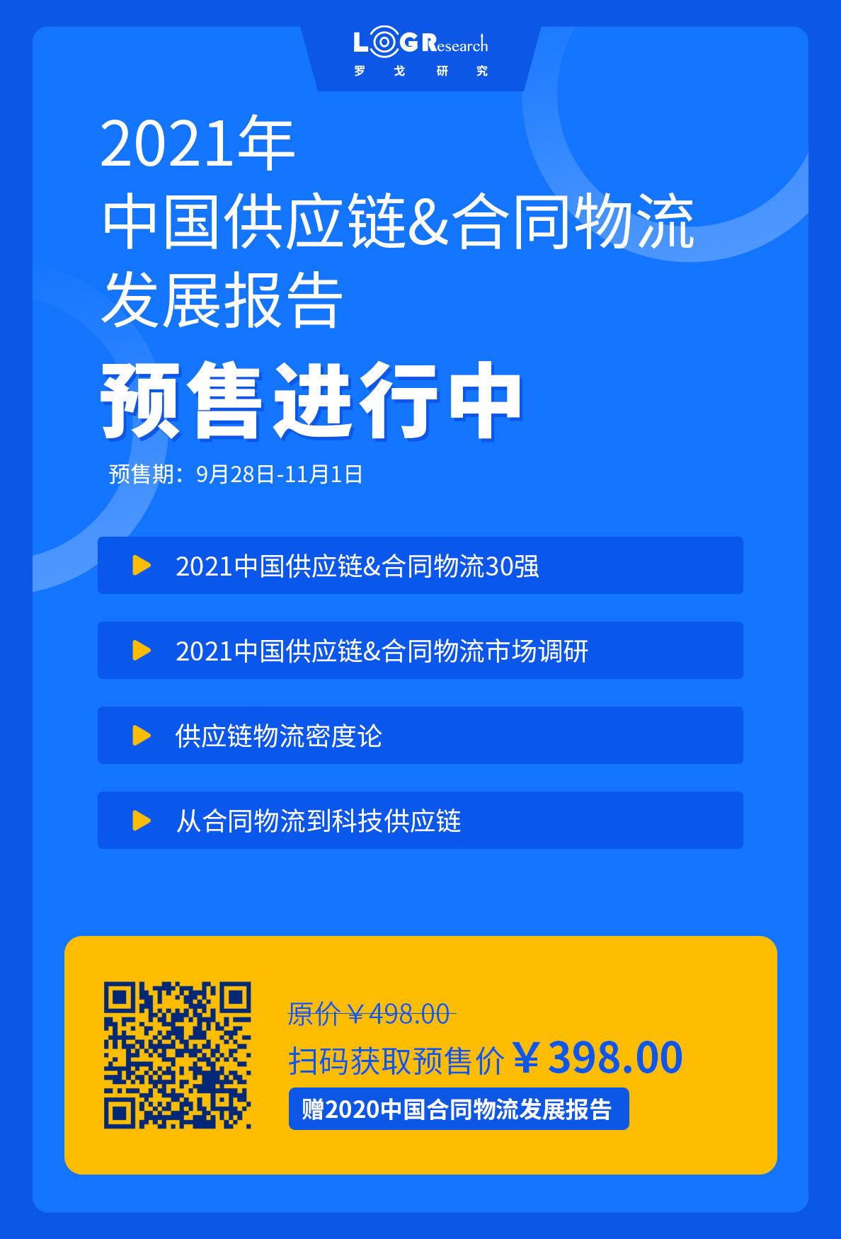 【预售中】2021中国供应链&合同物流发展报告